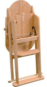 east coast wooden highchair folded