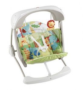 Fisher-Price Rainforest Take Along Swing and Seat Set Best baby swings and seats
