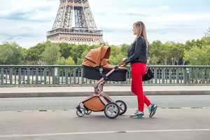 Brown coloured Hot Mom Travel System